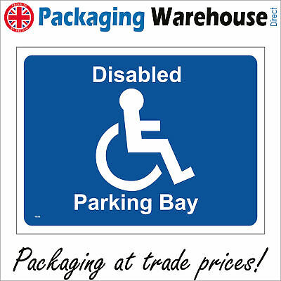 £5.95 • Buy Ve108 Disabled Parking Bay Sign Library Museum Swimming Baths Workplace