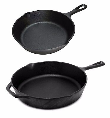Cast Iron Induction Non Stick Grill Pan Skillet Cooking Fry Frying Griddle Pan • 14.99£