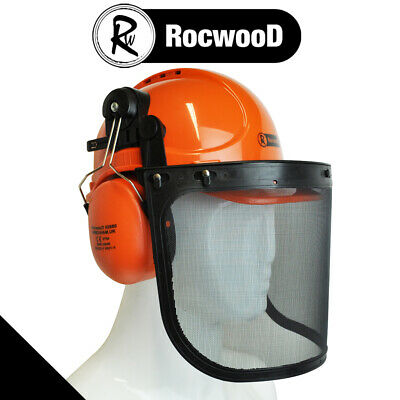 £18.65 • Buy RocwooD Chainsaw Safety Helmet Hard Hat With Visor