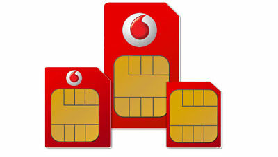 £0.99 • Buy Vodafone Micro / Nano Sim Card For Apple IPhone 4 4S 5 5S 6 7 8 X Pay As You Go
