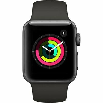 $ CDN351.82 • Buy New Apple Watch Series 3 (GPS) 38mm Space Gray Aluminum Case - Gray Sport Band