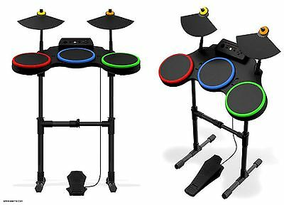 $ CDN226.48 • Buy Sony PS3 Guitar Hero World Tour Band DRUM KIT SET Drums Cymbals Pedal Stand Ps2