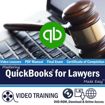 £10.89 • Buy Learn Intuit QUICKBOOKS PRO FOR LAWYERS 2018 Training Tutorial DVD-ROM Course