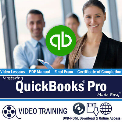 £10.89 • Buy QUICKBOOKS PRO 2018 Training Tutorial DVD And Digital Course 185 Videos 7 Hours
