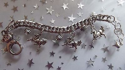 £6.99 • Buy Horse,pony Charm Adjustable Bracelet Gift Box Silver 3 To 4 Years }any Size Made