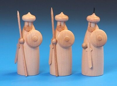 Wooden Nativity Scene The Soldiers From Herod 6cm Set • 18.99£