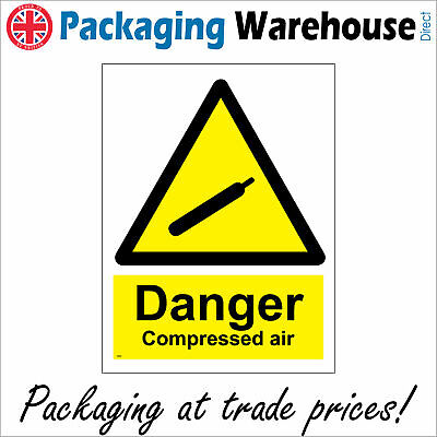 Ws248 Danger Compressed Air Sign Cannister Bottle Cylinder Handle With Care • 2.95£