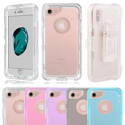 AU10.83 • Buy Clear Defender Shockproof Case Cover For IPhone X XS Max 6 7 8 Plus 11 Pro +Clip