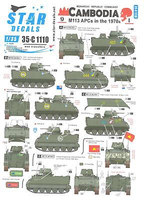 $8.99 • Buy Star Decals 1/35 CAMBODIA M113 Armored Personnel Carriers In The 1970s