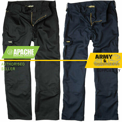 £17.95 • Buy Apache Industry Pro Work Mens Pants Trousers Tuff Cargo Combat Knee Pad Pockets