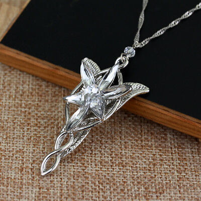 $7.19 • Buy Lord Of The Rings Arwen's Necklace Arwen Evenstar Pendant Crystal SILVER PLATED!