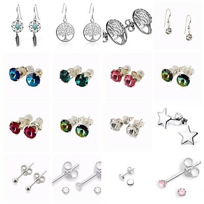 £3.99 • Buy Sterling Silver Earrings/Studs  In Various Different Designs