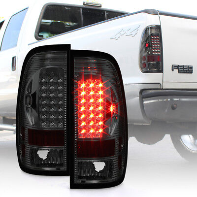 $104.99 • Buy Smoked 1997-2003 Ford 150 99-07 F250 F350 Superduty LED Tail Lights Brake Lamps