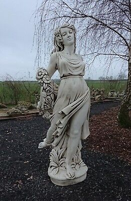 Large Stunning White Stone Garden Lady Statue Female Figure Woman Collect Only • 895£