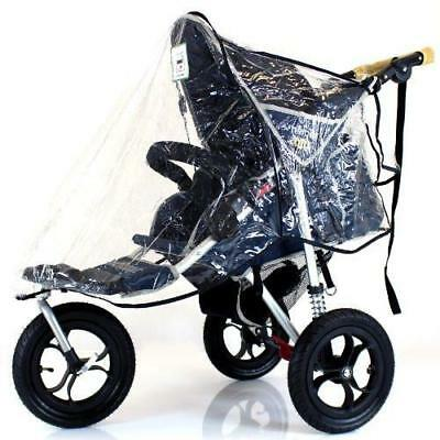 Universal Rain 3 Wheeler Rain Cover To Fit Many 3 Wheeler Strollers • 12.95£