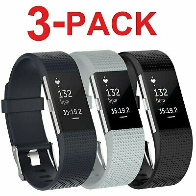 $ CDN9.62 • Buy 3 PACK For Fitbit Charge 2 Replacement Bracelet Watch Band Heart Rate Fitness