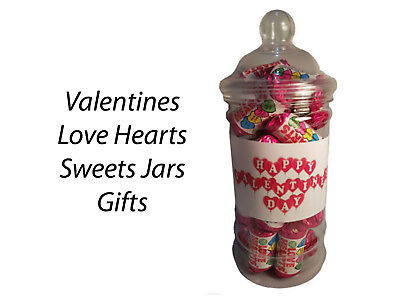 £6.99 • Buy Love Hearts Sweets Candy Jars Gift Presents Kids Partners Valentines Day