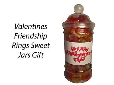 £4.99 • Buy Valentines Day Friendship Rings Sweets Candy Jars Gift Presents Kids Partners