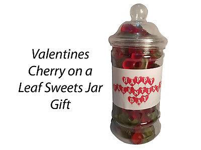 £4.99 • Buy Valentines Day Cherry On A Leaf Sweets Candy Jars Gift Presents Kids Partners