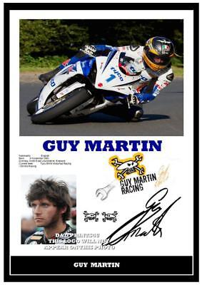 048.  Guy Martin Tt Signed Reproduction Print Size A4 • 4.69£