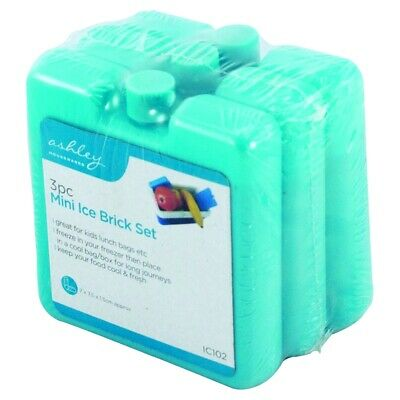 £2.88 • Buy Pack Of 3 Mini Ice Blocks Freeze For Cooler Bags & Picnics Great For Travel