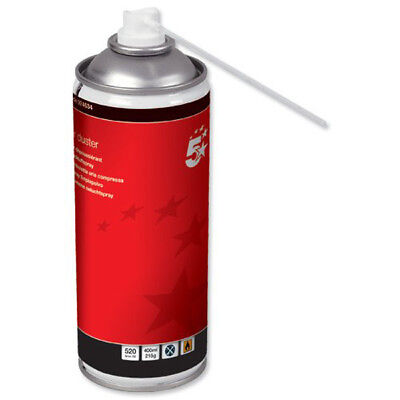 5 Star Compressed Air Duster Can Laptop Keyboard Cleaner Spray 400ml HFC Free • 8.95£