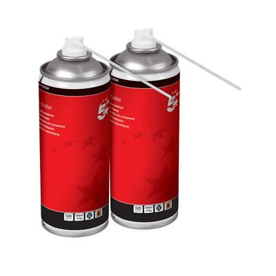 2 X 5 Star Compressed Air Duster Can Laptop Keyboard Cleaner Spray 400ml • 12.99£