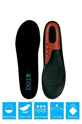 Work Boots Orthotic Foot Arch Support Heel Shoe Inserts Gel Massaging Insoles UK • 2.99£