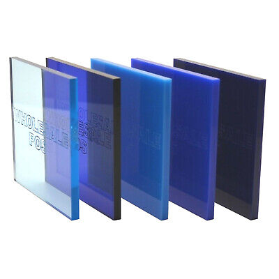 Blue Colour, Tinted & Mirror Perspex® Acrylic Plastic Sheets 3mm & 5mm Thickness • 28.54£