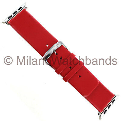 $ CDN43.33 • Buy 38mm Milano Red Genuine Leather Square Tip Watch Band Apple Watch Series 1&2
