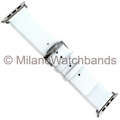 $ CDN45.66 • Buy 42mm Milano White Genuine Leather Square Tip Watch Band Apple Watch Series 1&2