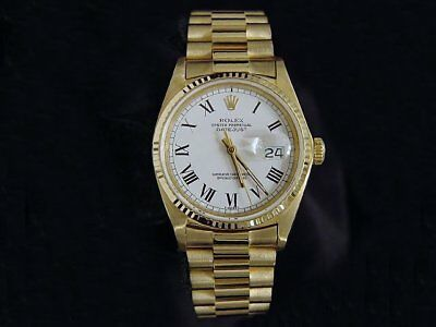 $ CDN16365.02 • Buy Mens Rolex Datejust Solid 18K Yellow Gold Watch President Style Band Roman Dial