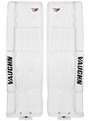 $679.99 • Buy New Vaughn Xr Pro Sr Goalie Leg Pads 32 +2 All White V7 Velocity Senior Hockey