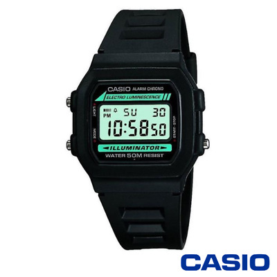 £16.95 • Buy Casio W-86-1vqes Classic Mens Watch Resin/stainless Steel Alarm Stopwatch 12/24
