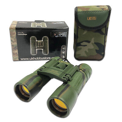 10x25 Camo Camoflage Powerful 10x Magnification Binoculars Birdwatching Birding • 12.95£