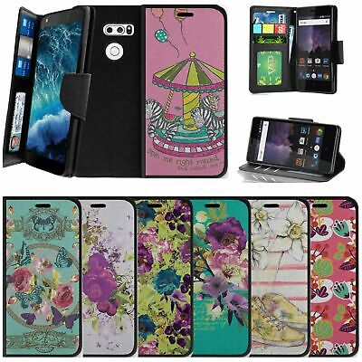 AU14.62 • Buy For LG V30 | LG V30 Plus Wallet Case W/ Wrist Strap Stand Card Slots - Flowers