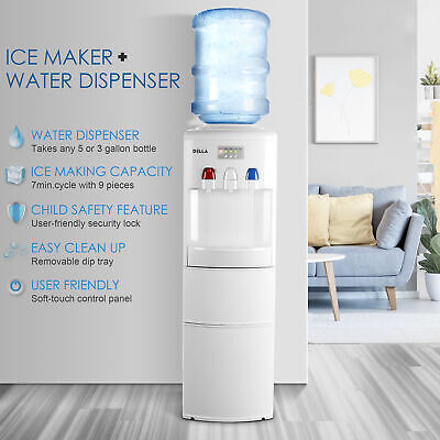 $269.97 • Buy DELLA Electric Hot Cold Water Cooler Dispenser 3-5 Gallon W/ Built-in Ice Maker
