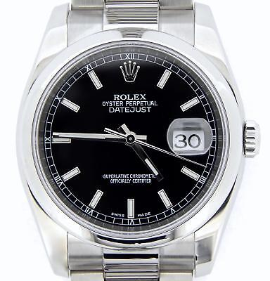 $ CDN7910.56 • Buy Rolex Datejust Men Stainless Steel Watch Black Dial Oyster Band New Style 116200