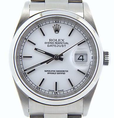 $ CDN6737.21 • Buy Rolex Datejust Mens Stainless Steel Watch Sapphire Oyster Band White Dial 16200