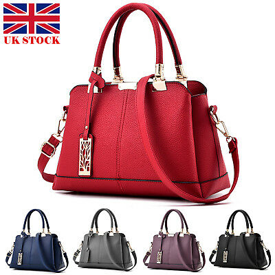 Women Handbag Leather Briefcase Shoulder Bag Tote Purse Ladies Messenger Satchel • 13.59£