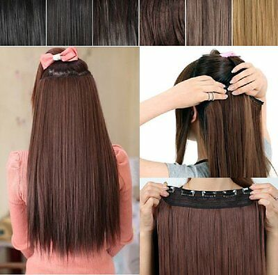 $21.51 • Buy Hair Extension Smooth 36 Or 56cm Clip IN Extensions Hair Piece Hair Thickener