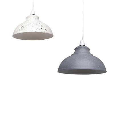 £15.99 • Buy Metal Modern Ceiling Pendant Non-electric Light Shade Cream Or Grey Industrial