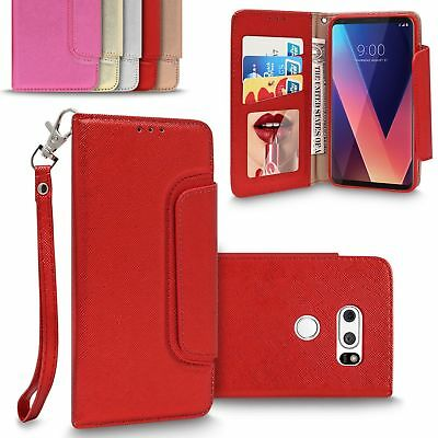 AU9.82 • Buy For LG V30 /Plus Luxury Charming Leather Wallet Case Mirror Flip Magnetic Cover