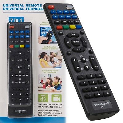 £4.89 • Buy 7 In 1 Devices Universal Remote Control Replacement Programmable TV DVD VCR HIFI