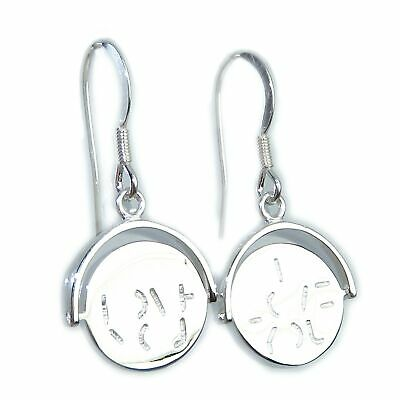 I Love You Spinner Sterling Silver Earrings .925 X 1 Pair Drops • 19.90£