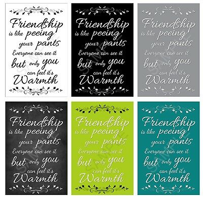 Bathroom Wall Canvas Friendship Is Like Peeing Your Pants • 13.99£