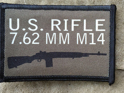 $7.99 • Buy M14 Morale Patch Tactical Military Army Badge Hook Flag USA  M1A 308 Rifle