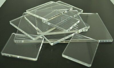 Clear Plastic Acrylic Perspex Block Pad For Clear / Unmounted Stamps Many Sizes • 5.25£
