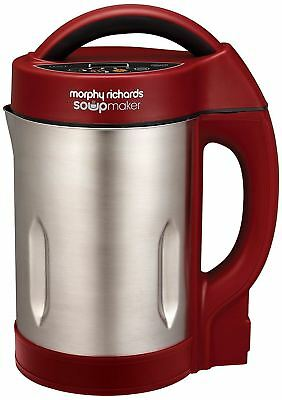 Morphy Richards 501018 Soup & Smoothie Maker 1.6L - Red, Stainless Steel, 1000W • 300£