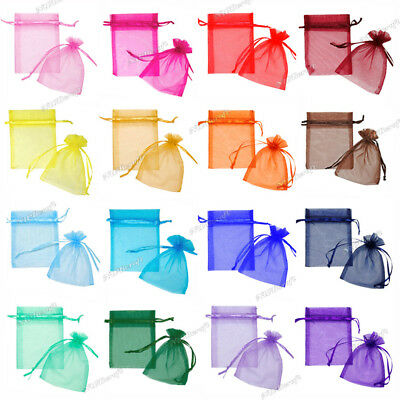 £1.99 • Buy 10 X Premium Organza Favour Bags Wedding Party XMAS Gift Candy Jewellery Pouch